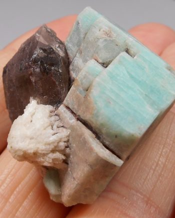 Amazonite, smoky quartz, and albite
