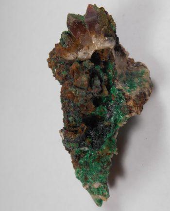 Malachite and quartz